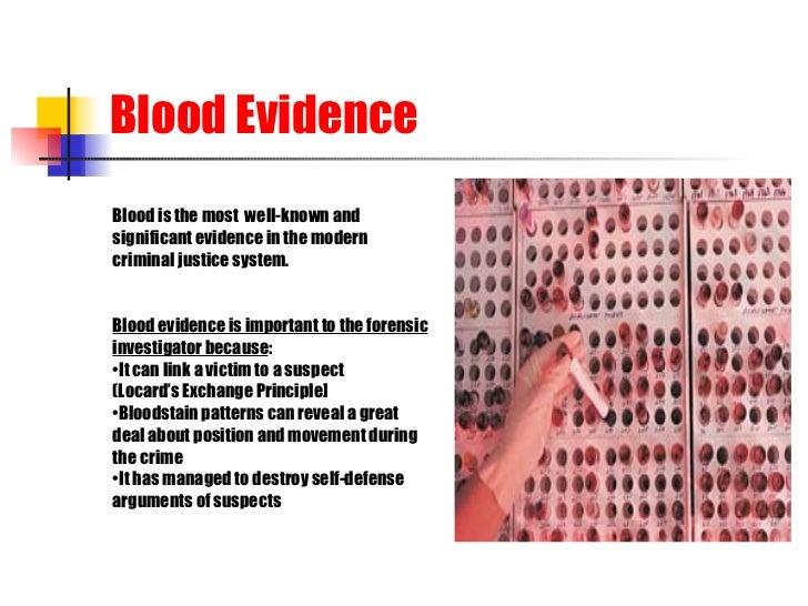 Forensic Serology BLOOD