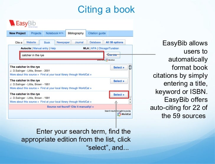 easybib instructional presentation  11 citing a book easybib