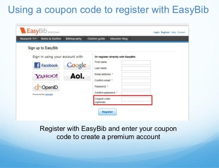 Easybib instructional presentation 4 using a coupon code fandeluxe Choice Image