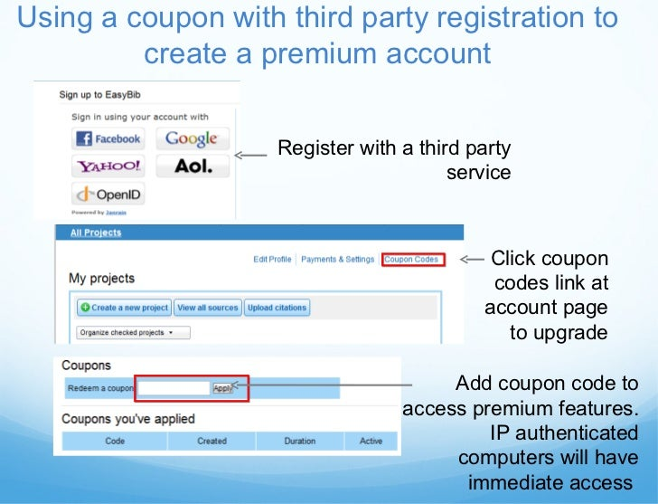 Easybib instructional presentation coupon code to create a premium account 5 fandeluxe Choice Image