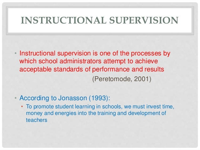 Instructional supervision | educational leadership in the 21st century.
