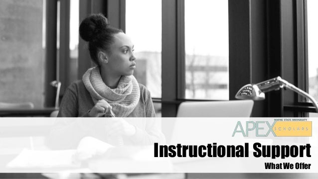 Instructional Support What We Offer