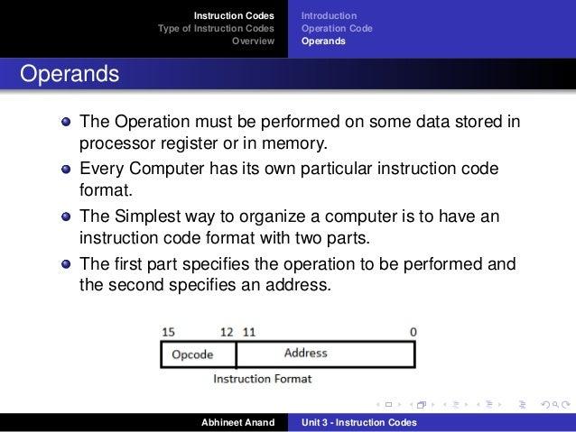 Instruction Code
