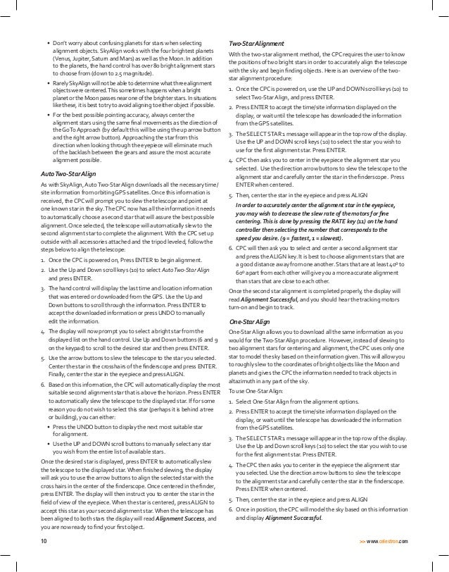 Instruction manual | Celestron CPC Deluxe HD Telescopes