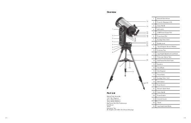 Instruction Manual   Celestron NexStar Evolution Telescopes   Optics …