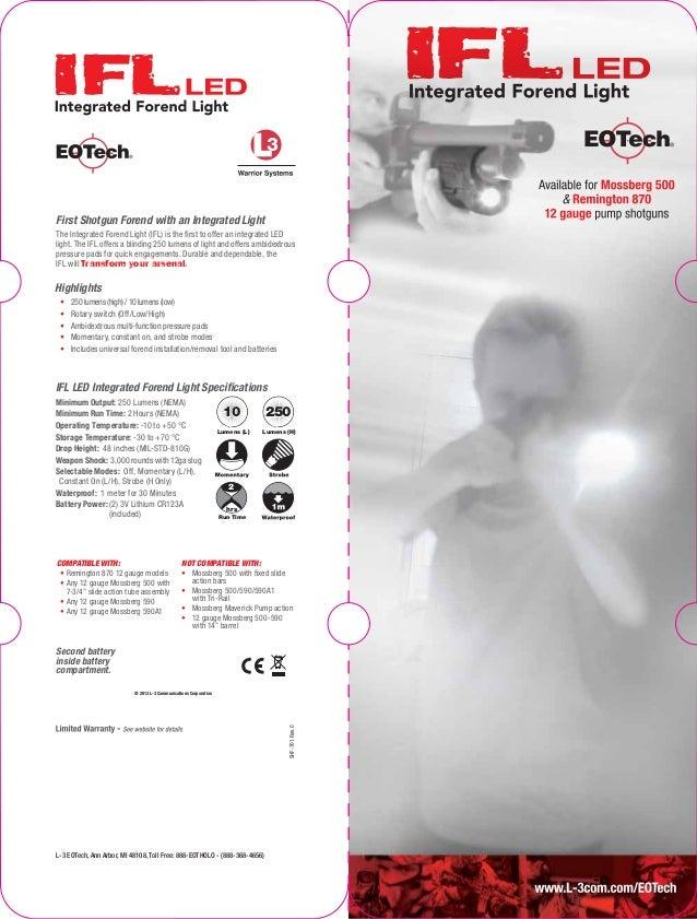 Instruction Manual Eotech Ifl Optics Trade