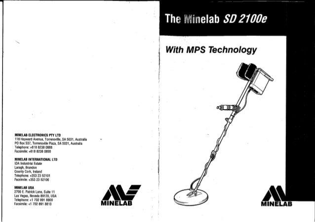 instruction manual minelab sd 2100e metal detector english language rh slideshare net Instruction Manual Clip Art User Manual