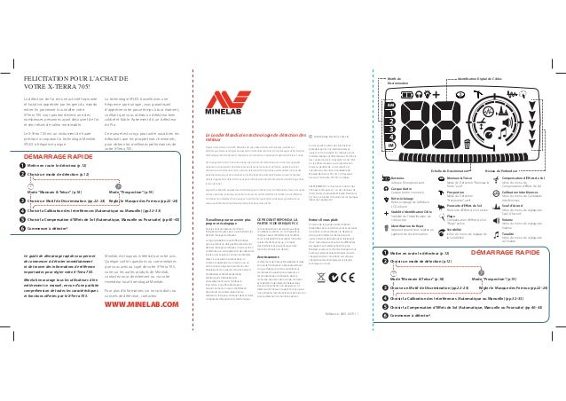 Instruction Manual Minelab X-TERRA 705 Metal Detector