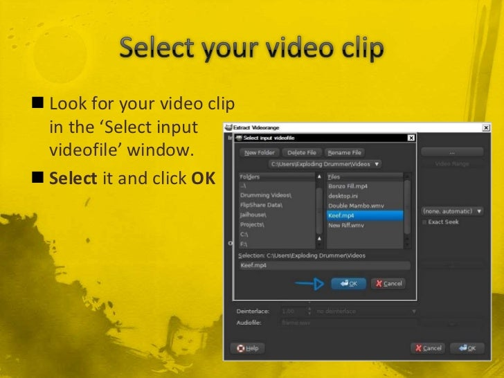 how to make dat video file