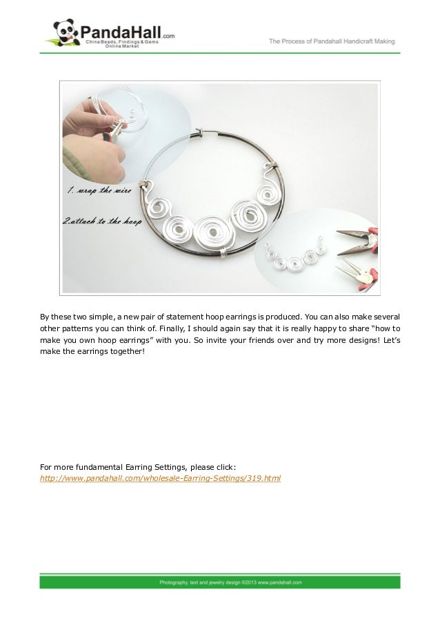 Instructions about how to make your own hoop earrings more for Net making instructions