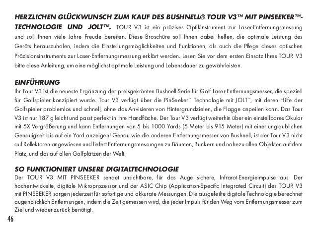 bushnell tour v3 instructions