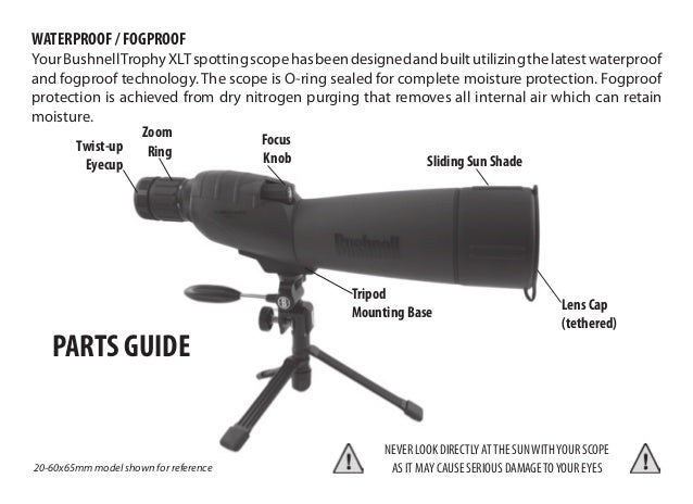 Instructions BUSHNELL Trophy XLT Spotting Scopes | Optics Trade