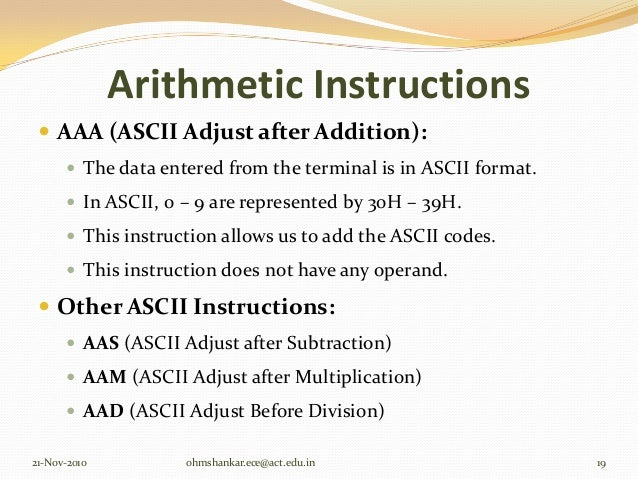 aam instruction in 8086