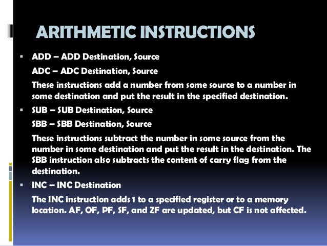 Section 1 8051 Microcontroller Instruction Set