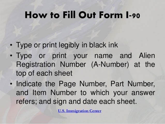 Instructions For Application To Replace Permanent Resident Card