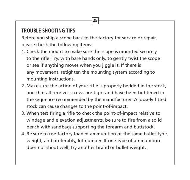 Instructions Leupold Hamr Rifle Scope Optics Trade