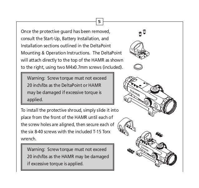 Instructions LEUPOLD HAMR Rifle Scope | Optics Trade
