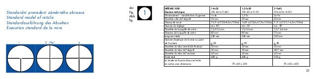 Instructions MEOPTA Artemis 3000 Rifles Scope | Optics Trade Slide 2