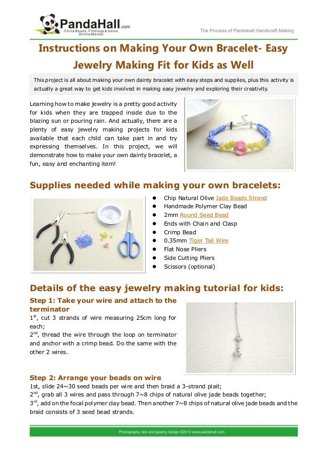 Instructions On Making Your Own Bracelet Easy Jewelry Making Fit For