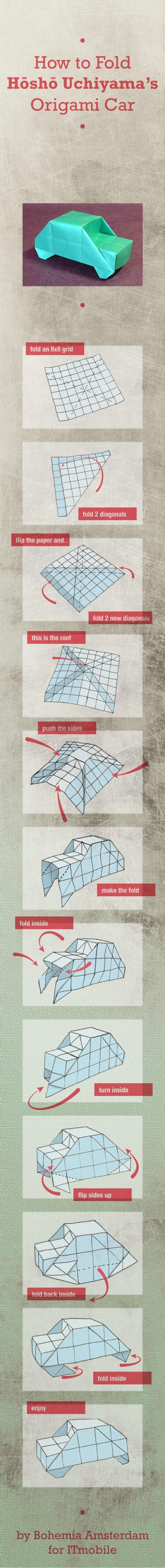 HowtoFold HoshoUchiyamas OrigamiCar O ByBohemiaAmsterdam ForITmobile