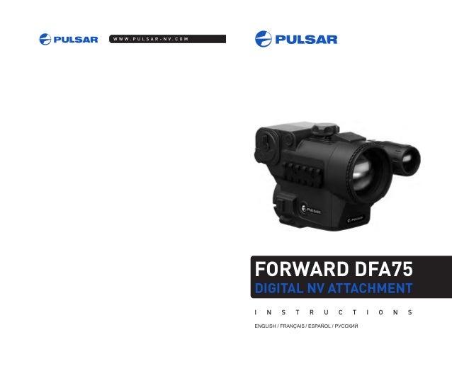 Instructions PULSAR Forward DFA75 Digital NV Attachment