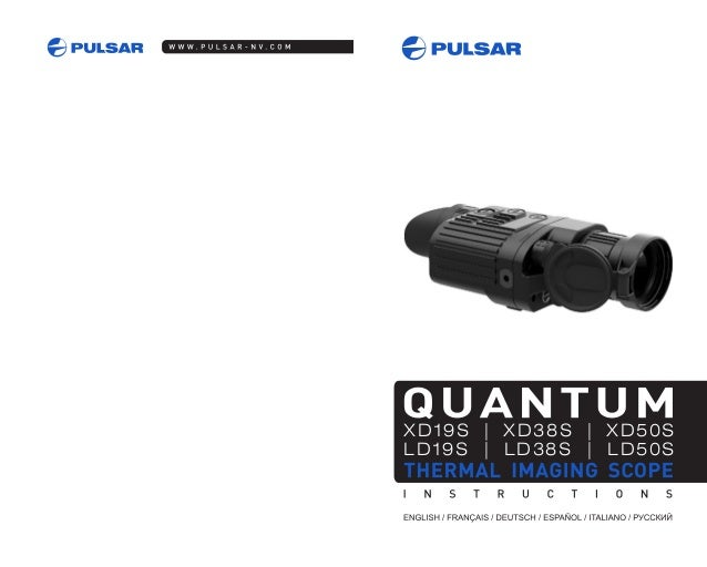Instructions PULSAR Quantum XD Thermal Imaging Scope