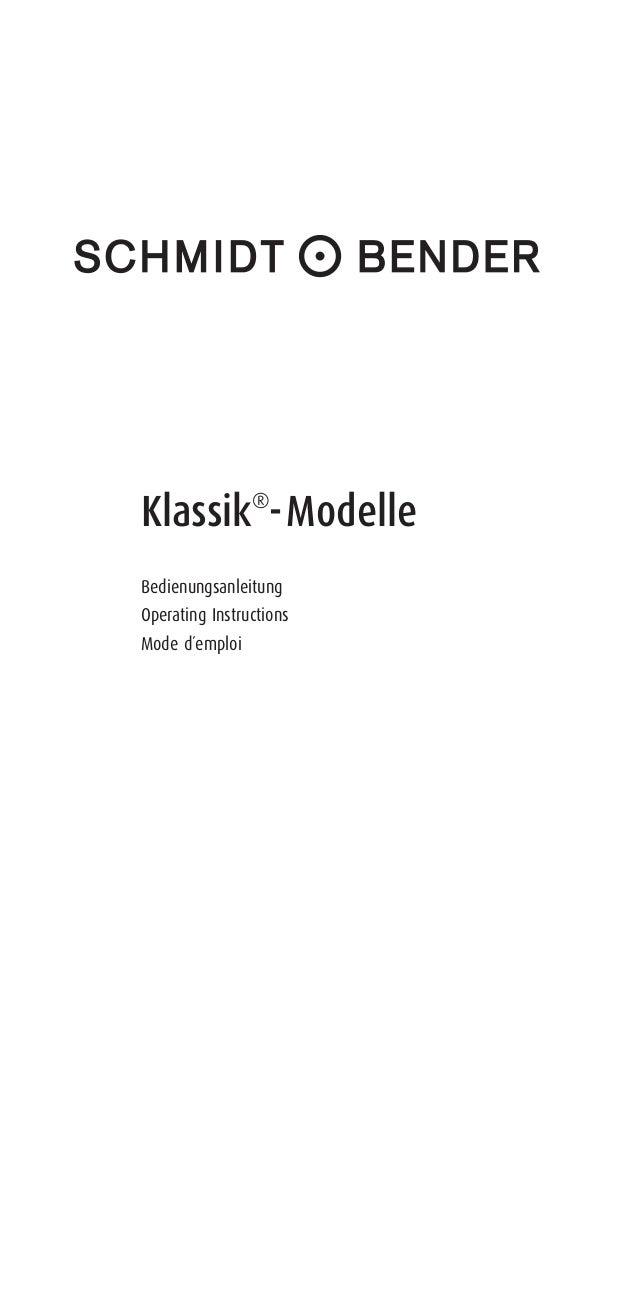 Klassik® -Modelle Bedienungsanleitung Operating Instructions Mode d´emploi RZ-Bedienungsanleitung_Klassik:RZ_Bedienungsanl...