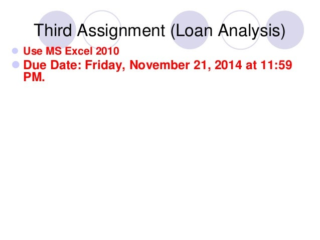assignment of loan