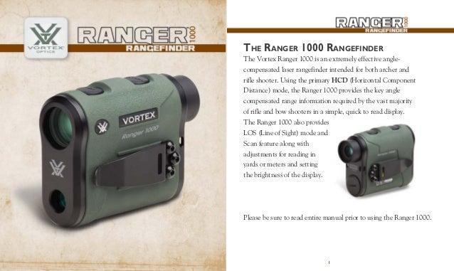 Instructions VORTEX RANGER 1000 Rangefinder | Optics Trade