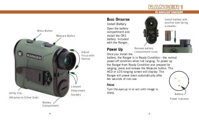 Instructions | Vortex Ranger 1800 Rangefinder