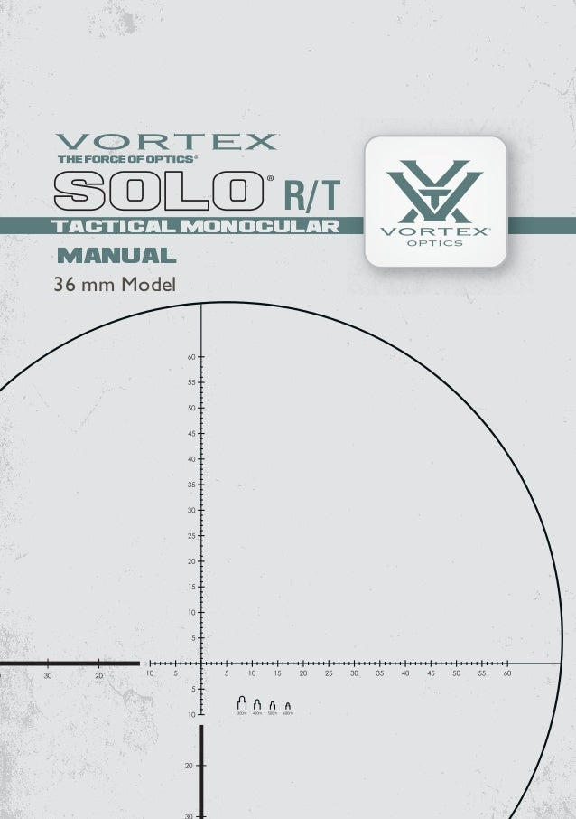 Instructions VORTEX SOLO R-T 36mm Tactical Monocular