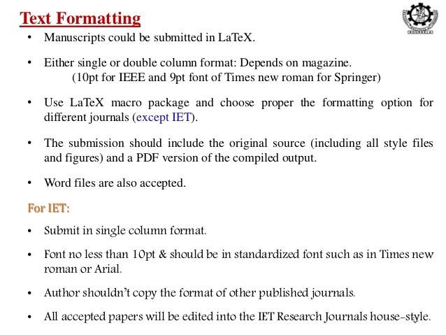 Ieee Research Paper Format Single Column - Floss Papers