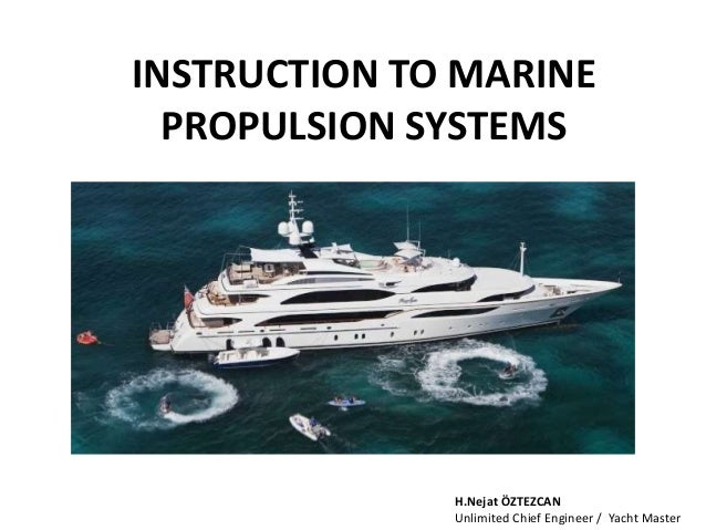 Instruction to marine propulsion systems