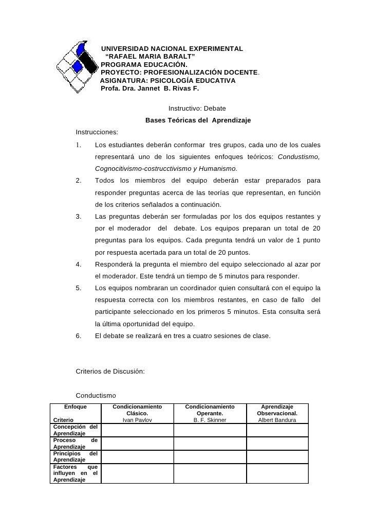 "UNIVERSIDAD NACIONAL EXPERIMENTAL                     ""RAFAEL MARIA BARALT""                    PROGRAMA EDUCACIÓN.        ..."