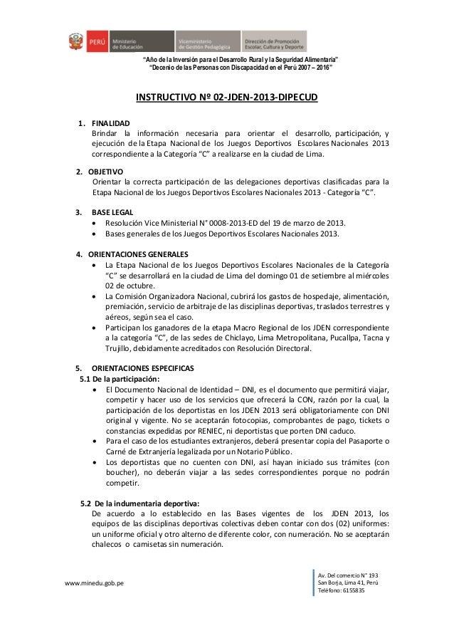 """www.minedu.gob.pe Av. Del comercio N° 193 San Borja, Lima 41, Perú Teléfono: 6155835 """"Año de la Inversión para el Desarrol..."""