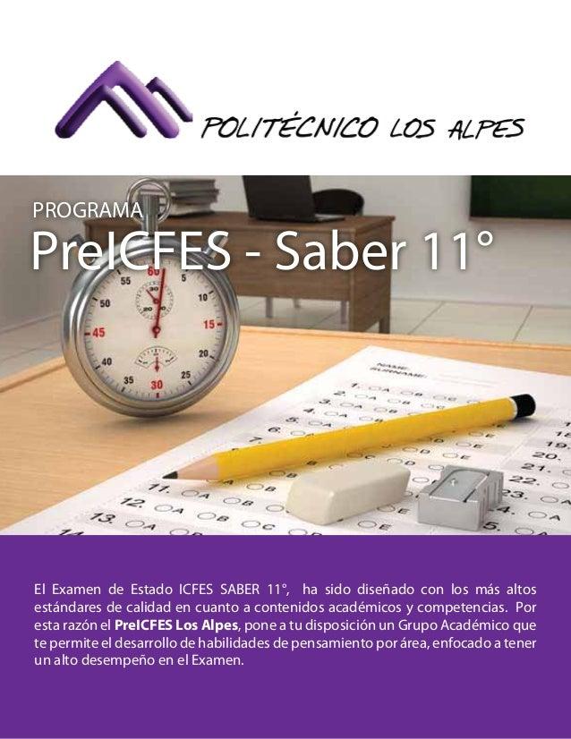 El Examen de Estado ICFES SABER 11°, ha sido diseñado con los más altos estándares de calidad en cuanto a contenidos acadé...