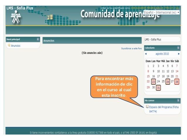Como página principal encontrará los diferentes opciones de búsqueda como Actividades, Panel de Control, Anuncios, Eventos...