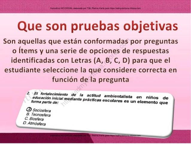 Instructivo Autocorreccion Pruebas Objetivas UNA Slide 2