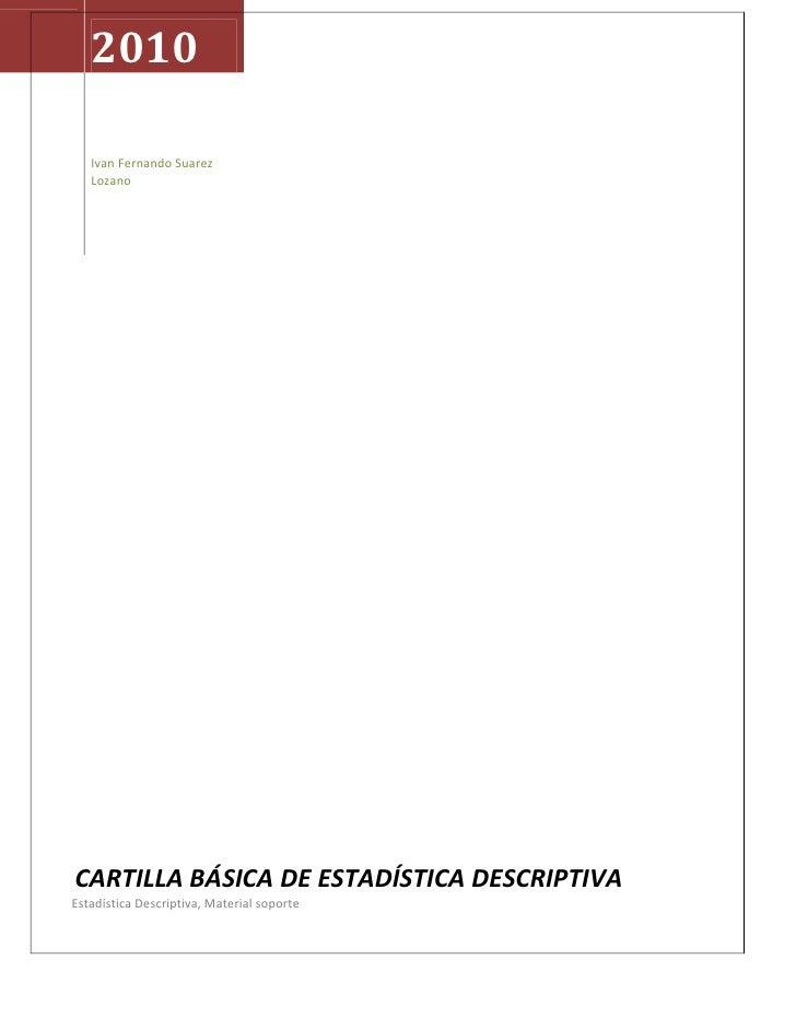INSTRUCTIVO DE ESTADISTICA TEMA I