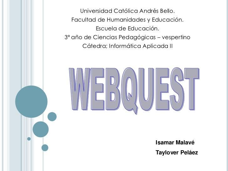Universidad Católica Andrés Bello.  Facultad de Humanidades y Educación.          Escuela de Educación.3ª año de Ciencias ...