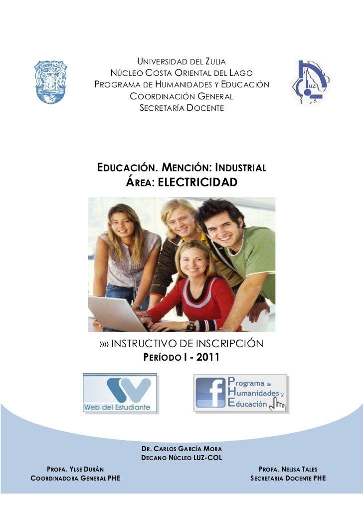 UNIVERSIDAD DEL ZULIA                   NÚCLEO COSTA ORIENTAL DEL LAGO                PROGRAMA DE HUMANIDADES Y EDUCACIÓN ...