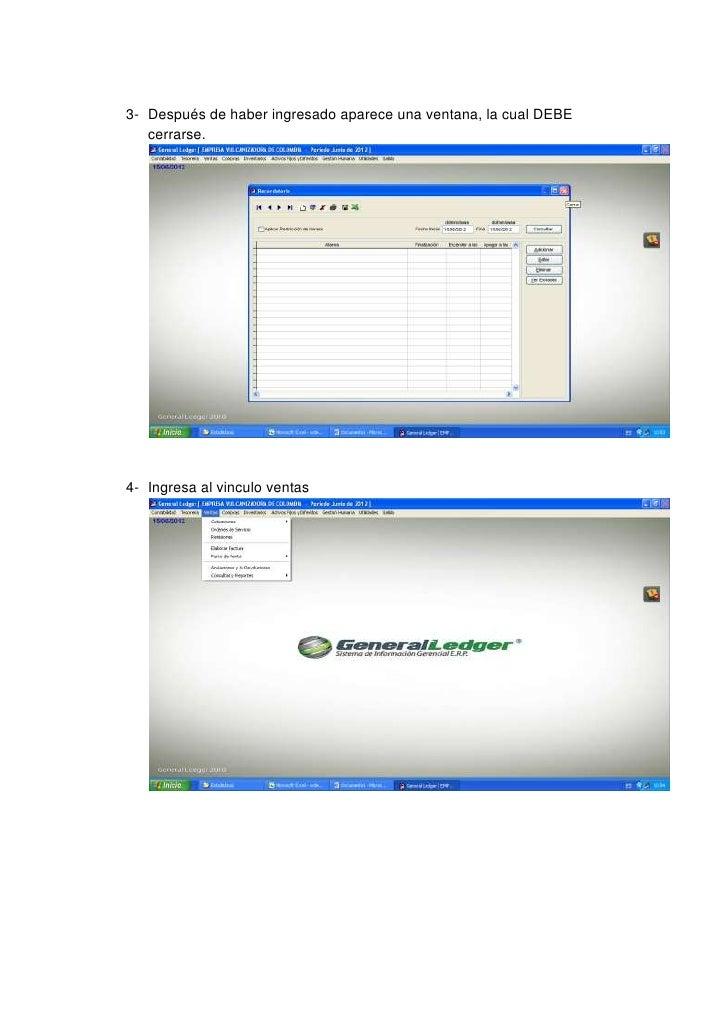 Instructivo para descargar factura del general ledger Slide 2