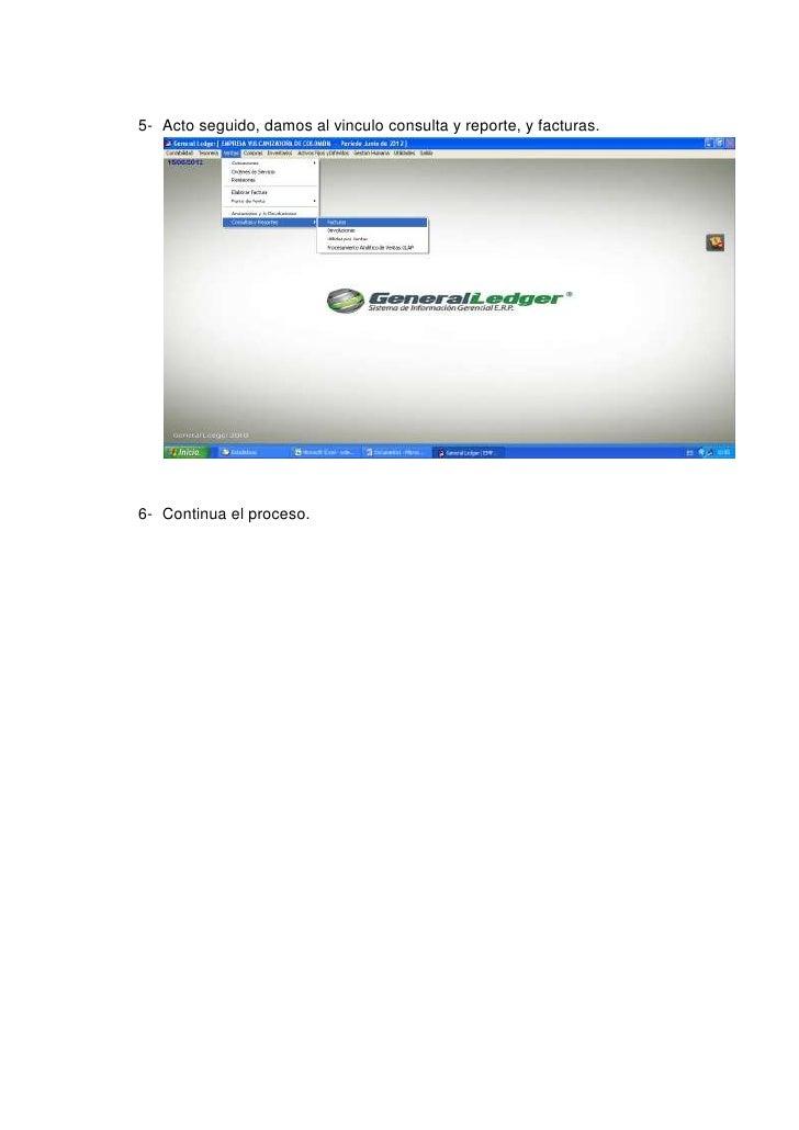 Instructivo para descargar factura del general ledger Slide 3
