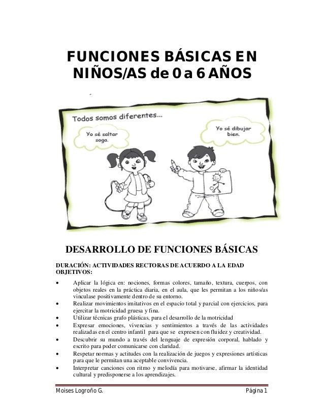 Instructivo para el desarrollo de funciones básicas