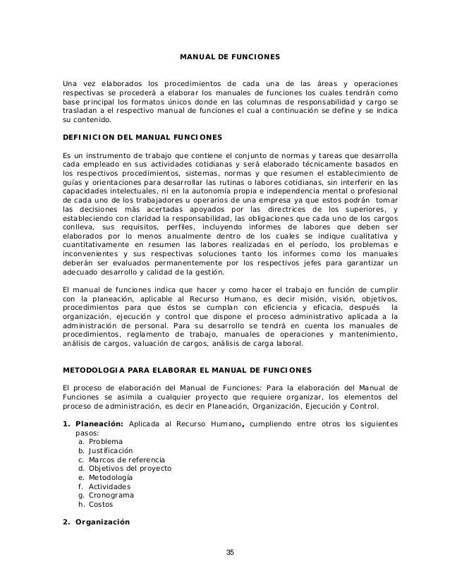Instructivo para la elaboracion de los manuales de procedimientos y f…