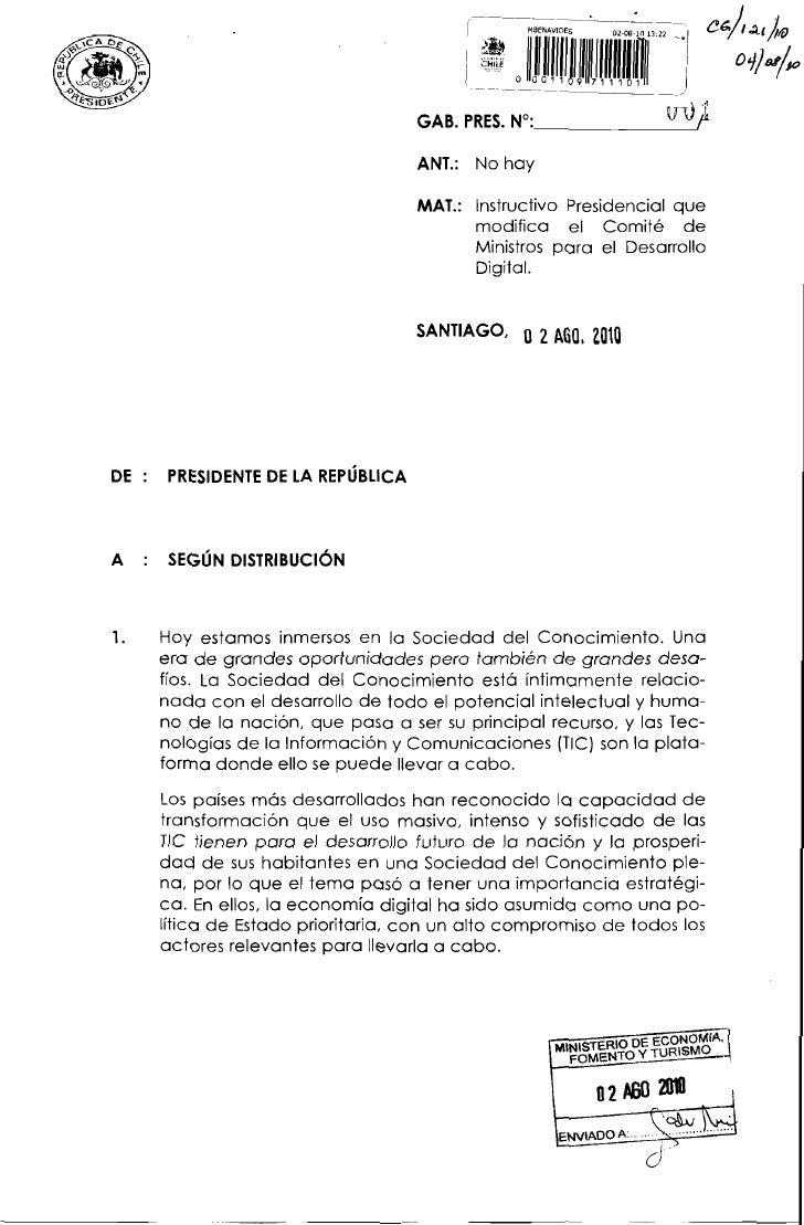 Instructivo presidencial desarrollo digital   2010