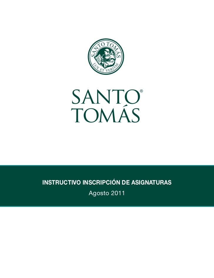 INSTRUCTIVO INSCRIPCIóN DE ASIGNATURAS             Agosto 2011