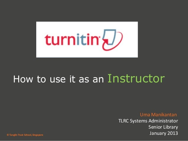 How to use it as an            Instructor                                               Uma Manikantan                    ...