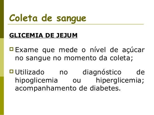 Tempo de jejum para exame de glicose