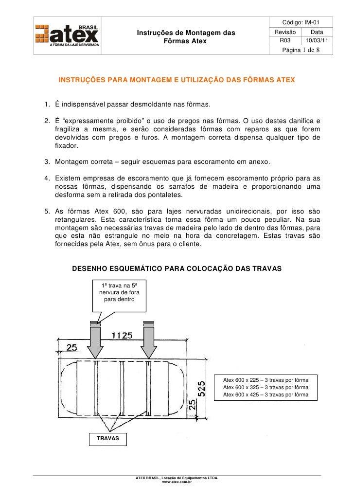 Código: IM-01                              Instruções de Montagem das                                       Revisão       ...